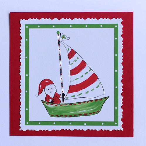 Sailing Santa Note Card