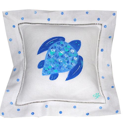 Sea Turtle Linen Pillow