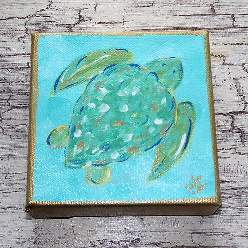 Mini Sea Turtle Original Painting