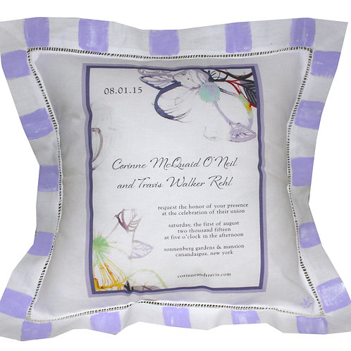 Custom Wedding Invitation Pillow