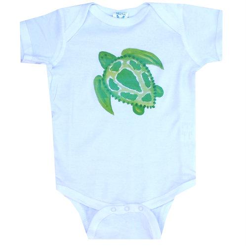 Green Sea Turtle Beach Cotton Creeper