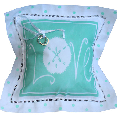 Coastal Love Ring Bearer Pillow