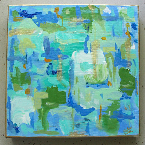 Colors of the Sea  Abstract Original Painting