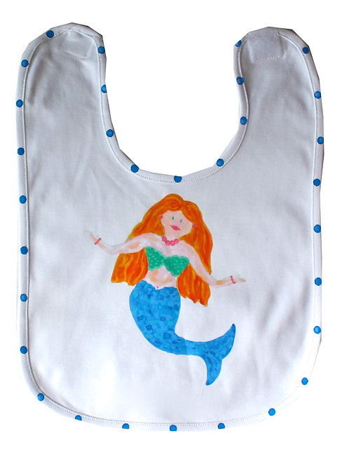 Blue Mermaid Baby Bib