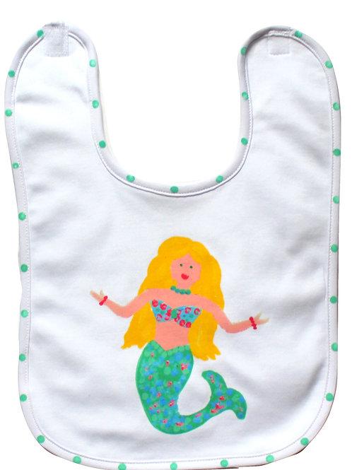 Teal Mermaid Baby Bib