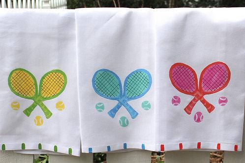 Tennis Racquet Kitchen Towel