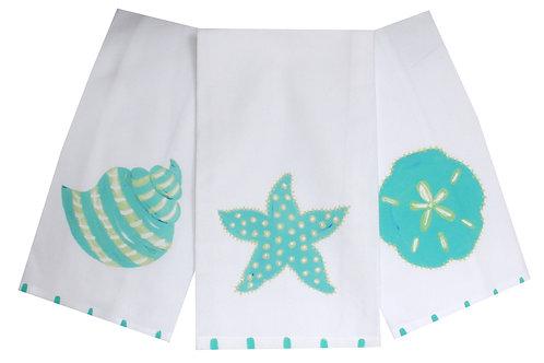 Aqua Shells Beach  Kitchen Towel