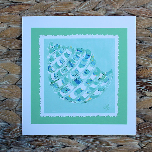 Turquoise Shell Note Card
