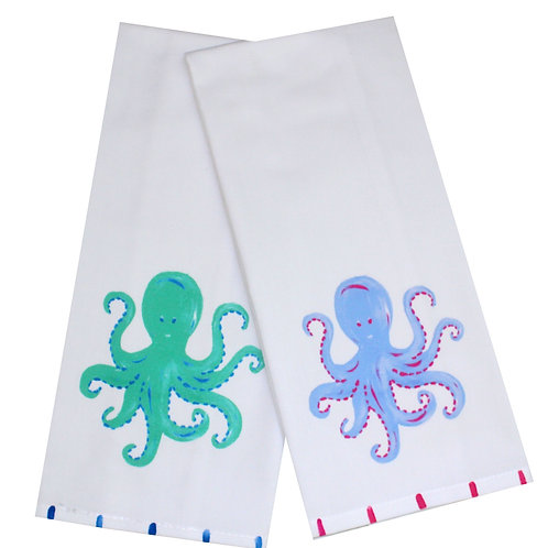 Octopus Kitchen Tea Towel