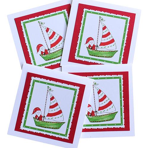 Sailing Santa Note Card Set