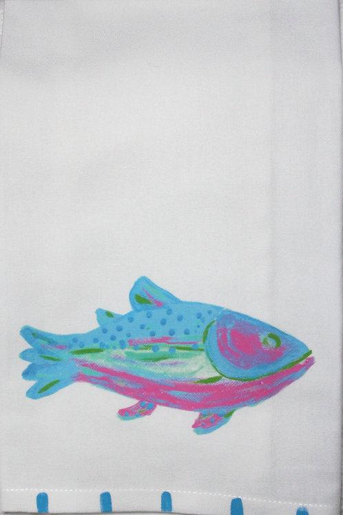 Blue Rainbow Trout Kitchen Towel
