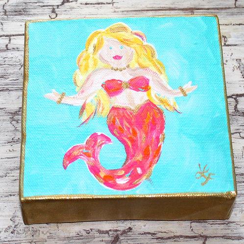 Mini Mermaid Original Painting