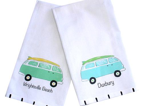 Surf Beach Van Kitchen Towel