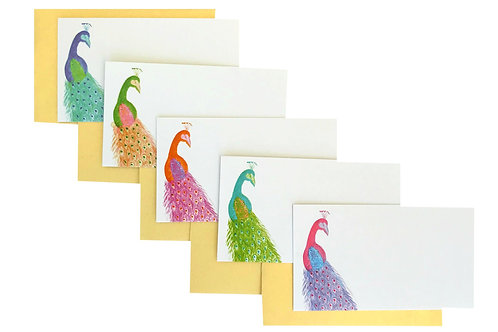 Peacock Gift Enclosure Card Set