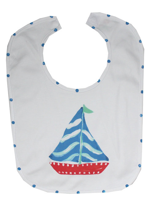 Red and Blue Sailboat