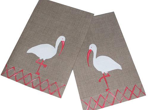 Tropical Ibis Linen Guest Towels