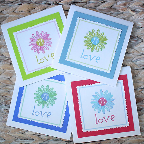 Tennis Daisy Note Card Set
