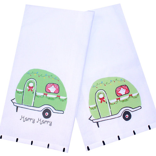 Holiday Camper Tea Towel