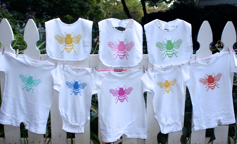 Colorful Bee Onesies