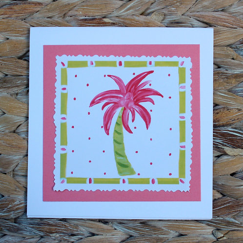 Pink Palm Note Card