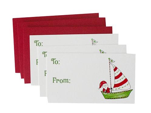 Sailing Santa Gift Enclosure Card Set
