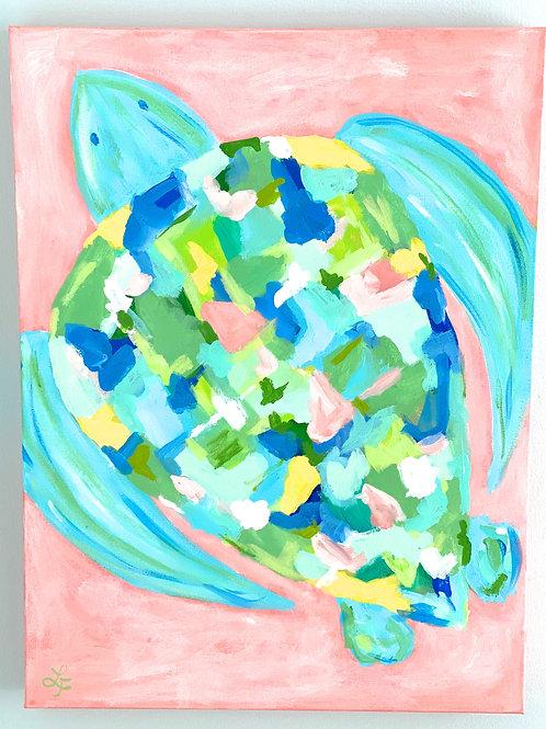 Colorful Sea Turtle Art