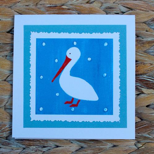 White Pelican Note Card