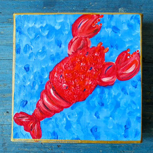 Red Lobster Original Mini Painting