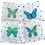 Thumbnail: Blue & Green Butterfly Cocktail  Napkins