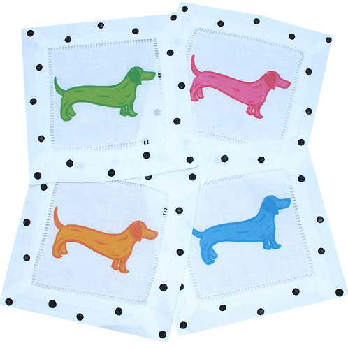 Colorful Dachsund Cocktail Napkins