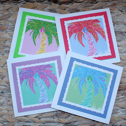 Tropical Palm Tree Note Card Set