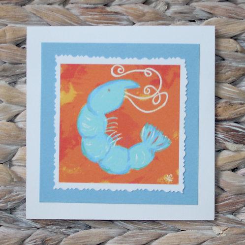 Blue Shrimp Note Card