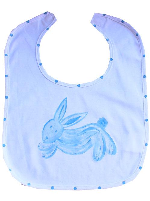 Blue Bunny Baby Bib