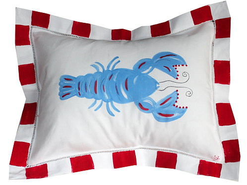 "Nautical Lobster 11""x15"" Pillow"