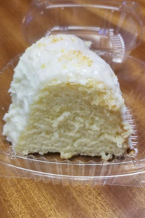 Lemon Chiffon Cake, slice
