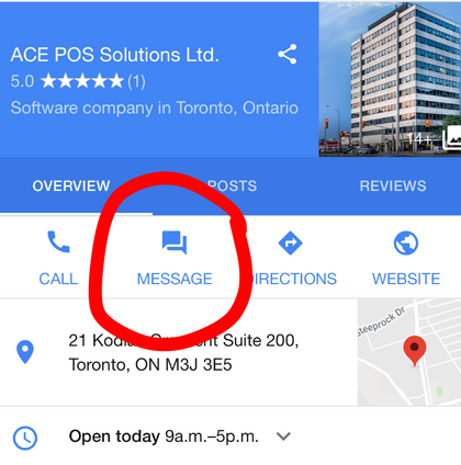 Chat with customers directly from Google search results!