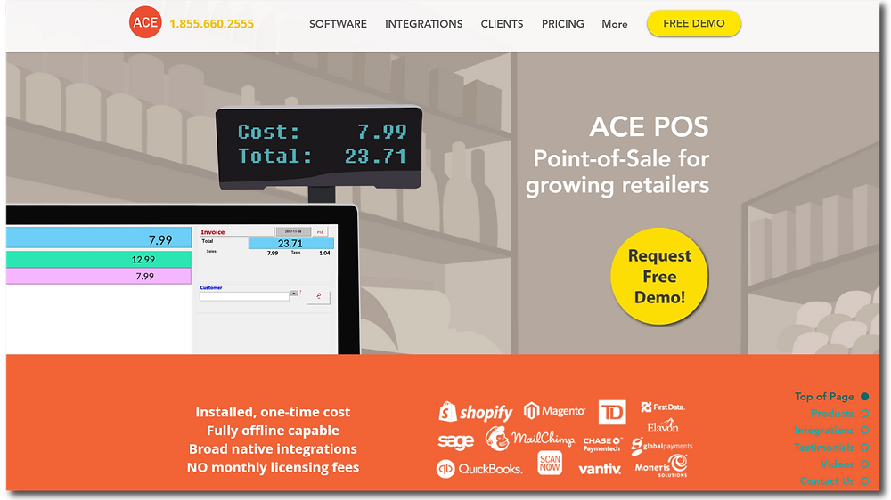 ACE POS Home Page