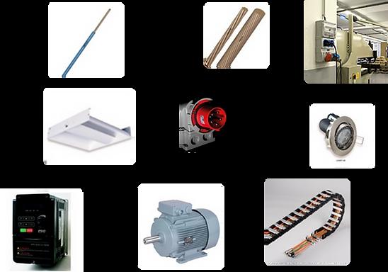 Fils, câbles, motorisation, appareillage, éclairage
