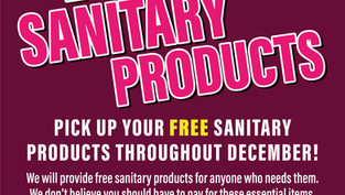 FREE SANITARY PRODUCTS