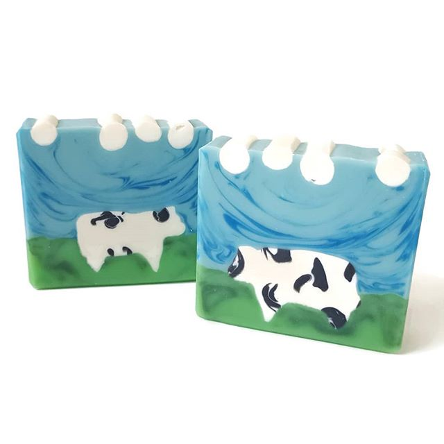 Look how cute these new cow soaps are!! This is our WI Cow soap and, I promise, it does NOT smell li