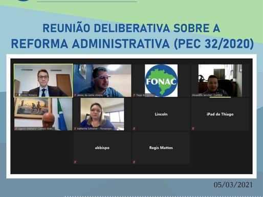 PEC da Reforma Administrativa é tema central de reunião do FONAC