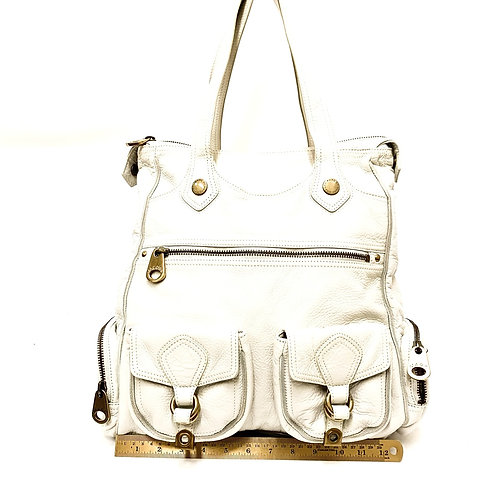 Winter White Leather Marc Jacobs