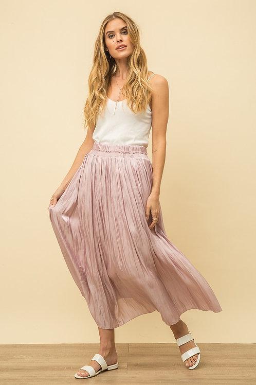 Mauve Crinkle Skirt