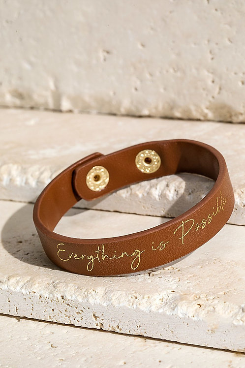 """Everything is Possible"" Snap Bracelet"
