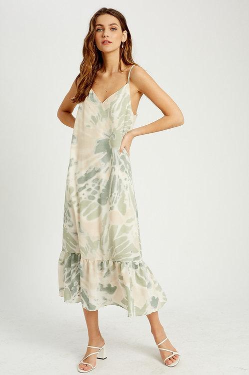 Sage Tie Dye Dress