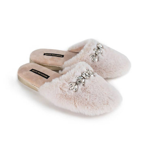 Cream Faux Fur Slippers