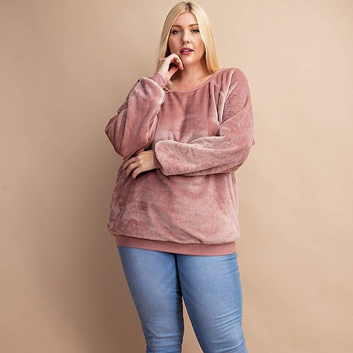 PLUS // Cozy Mauve Sweatshirt