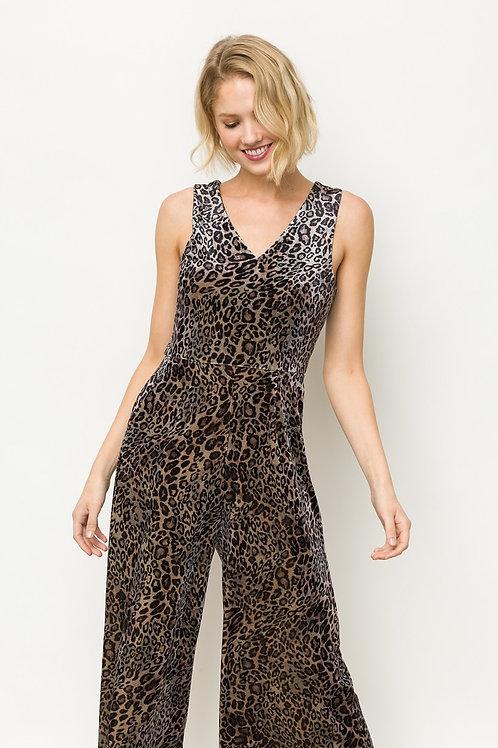 Animal Print Leopard Jumpsuit