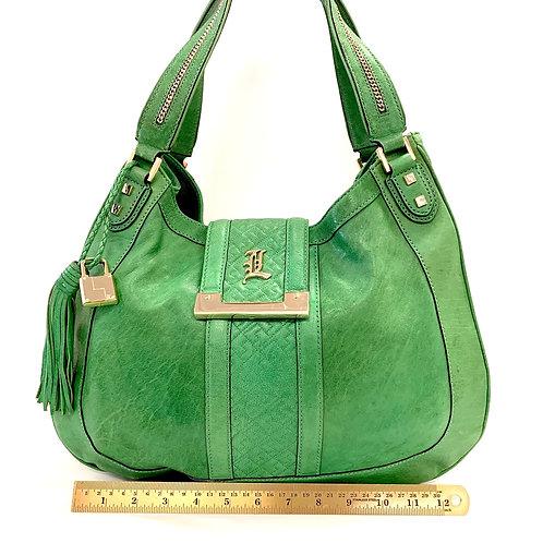 Green Leather Lamb Shoulder Bag