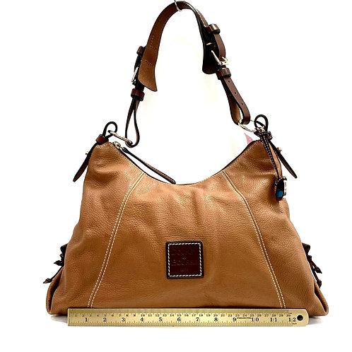 Camel Brown Leather Dooney & Bourke Shoulder Bag